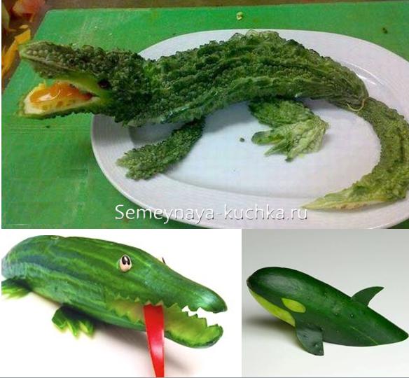 Украшение из овощей своими руками поделки 71