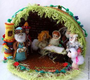 7b714e74d4de9e751bfb5fc49apa kukly igrushki palchikovyj teatr rozhdestvenskij 300x266 - Подарок на Рождество