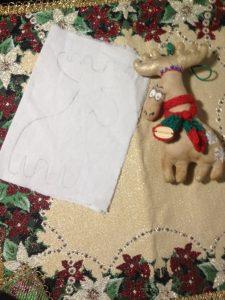 olen 3 225x300 - Мастер-класс по изготовлению рождественского оленя от мастерской «Grapedolls and decor»