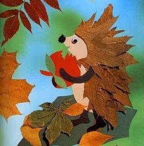 6vLcr1rWOLQ 296x300 - Осенние поделки: аппликации из осенних листьев. Коллаж из осенних листьев