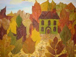 EPVHsrQPWKY 300x225 - Осенние поделки: аппликации из осенних листьев. Коллаж из осенних листьев