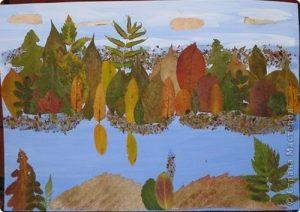 FcjRkuT96pI 300x212 - Осенние поделки: аппликации из осенних листьев. Коллаж из осенних листьев