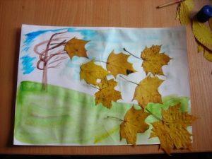 Vf0r5V5BIH0 300x225 - Осенние поделки: аппликации из осенних листьев. Коллаж из осенних листьев