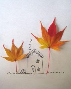 d A6QBgbZY4 238x300 - Осенние поделки: аппликации из осенних листьев. Коллаж из осенних листьев