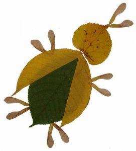fYR79tmn4KY 271x300 - Осенние поделки: аппликации из осенних листьев. Коллаж из осенних листьев