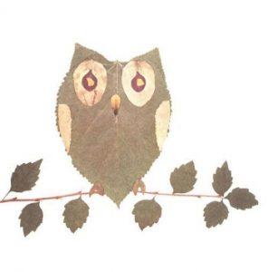 leaf03 296x300 - Осенние поделки: аппликации из осенних листьев. Коллаж из осенних листьев