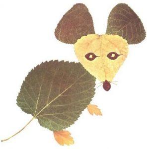 leaf04 296x300 - Осенние поделки: аппликации из осенних листьев. Коллаж из осенних листьев