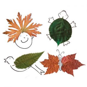leaf09 300x300 - Осенние поделки: аппликации из осенних листьев. Коллаж из осенних листьев