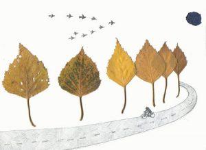 leaf10 300x219 - Осенние поделки: аппликации из осенних листьев. Коллаж из осенних листьев