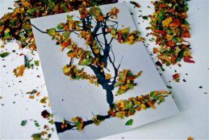 leaf12 300x201 - Осенние поделки: аппликации из осенних листьев. Коллаж из осенних листьев