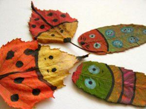 leaf16 300x225 - Осенние поделки: аппликации из осенних листьев. Коллаж из осенних листьев