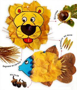leaf50 259x300 - Осенние поделки: аппликации из осенних листьев. Коллаж из осенних листьев