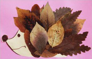 leaf51 300x193 - Осенние поделки: аппликации из осенних листьев. Коллаж из осенних листьев