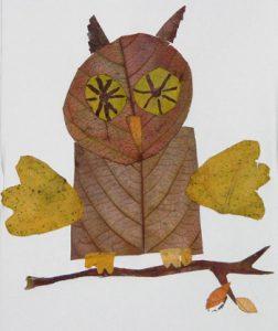 leaf61 252x300 - Осенние поделки: аппликации из осенних листьев. Коллаж из осенних листьев