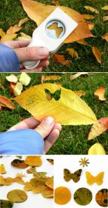 leaf63 156x300 - Осенние поделки: аппликации из осенних листьев. Коллаж из осенних листьев