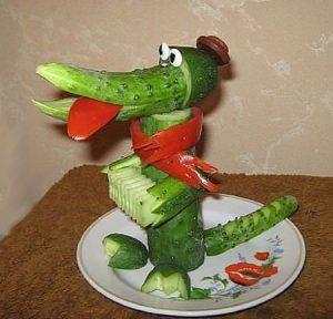 veg35 300x288 - Поделки из овощей и фруктов