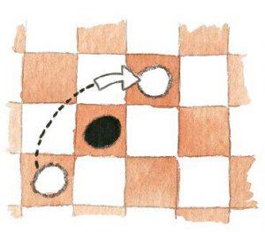 2 300x263 - Как научить ребенка играть в шашки: правила игры, 2 варианта