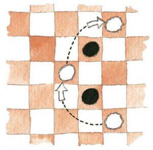 3 300x293 - Как научить ребенка играть в шашки: правила игры, 2 варианта