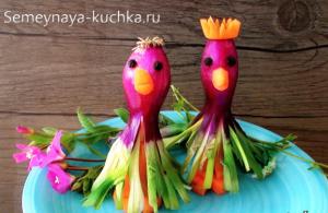 ovoshchi1 1 300x195 - Поделки из овощей для школы и сада