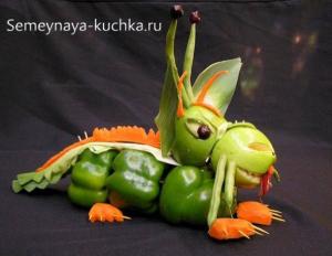 ovoshchi23 300x232 - Поделки из овощей для школы и сада