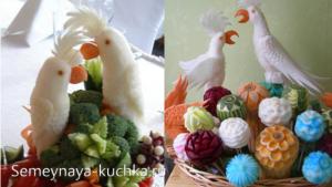 ovoshchi8 300x169 - Поделки из овощей для школы и сада