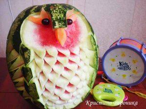 """karving9 300x225 - """"Вкусные картины"""" из овощей и фруктов: съедобно, полезно и увлекательно!"""
