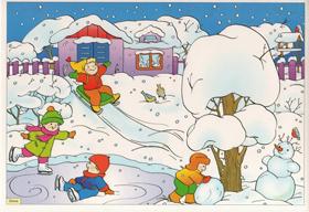 zima 01 - Времена года для детей