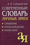 Современный словарь личных имён: Сравнение. Происхождение. Написание — Суперанская А.В.