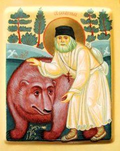 prp Serafim - Животные на иконах: добрые, мудрые, очеловеченные