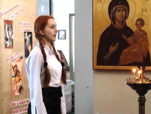 3Fragmenty vystupleniya v hrame1 - Воспитание школьным театром: детям важно показывать разные стороны жизни