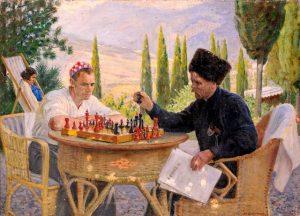 boris vladimisrky la partida de ajedrez 1940 - Настольные игры: играем с детьми в карантин, каникулы, пост
