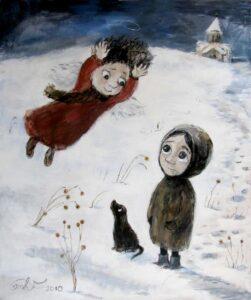 420587 original - Ангелы Нино: живопись как паломничество в детство