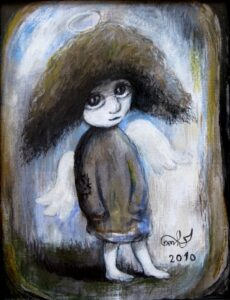 424085 original - Ангелы Нино: живопись как паломничество в детство