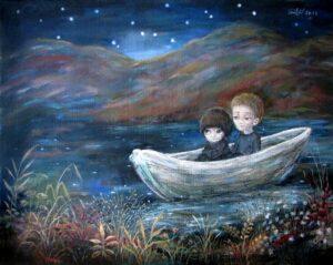 424747 original 1 - Ангелы Нино: живопись как паломничество в детство