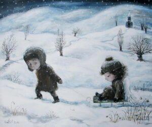 427142 original - Ангелы Нино: живопись как паломничество в детство