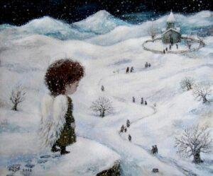 427492 original - Ангелы Нино: живопись как паломничество в детство