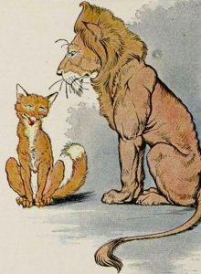 Басня Лев, серна и лиса