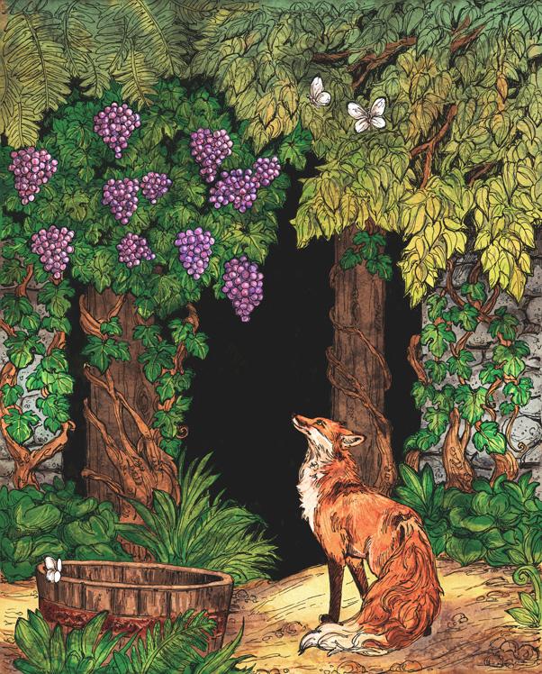Басня «Лисица и виноград»