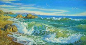 Басня Пловец и море