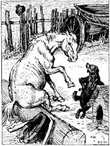 Басня Собака и лошадь
