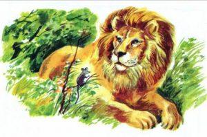Басня Лев и мышь