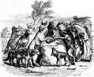 Басня Волки и овцы