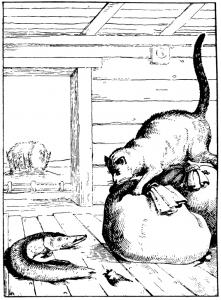 Басня Щука и кот
