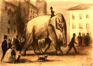 Басня Слон и моська