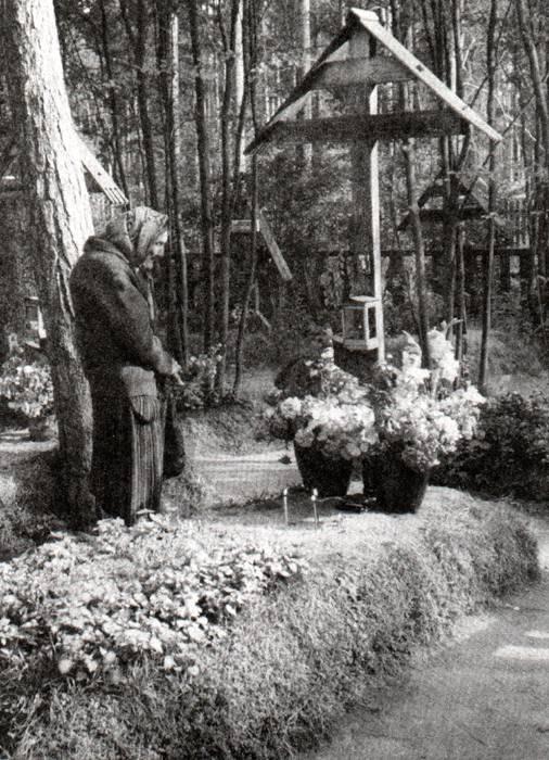 могила Преподобного, у Казанской церкви в Вырице