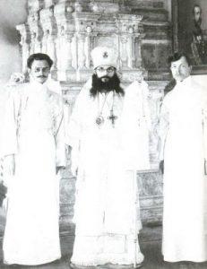Епископ Феодор (Поздеевский) с учениками. Московская духовная академия, 1910-е гг.