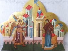 Икона Пресвятой Богородицы Благовещение из Царских Врат