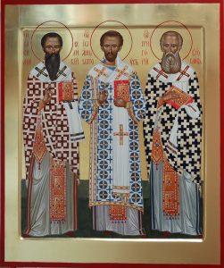 Свт. Василий Великий, Иоанн Златоуст, Григорий Богослов