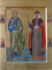 Святые апостол Андрей и княгиня Ольга.