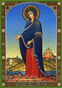 Икона Богородицы «У Источника» Пюхтицкая